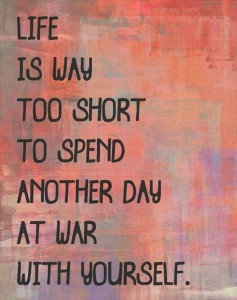don't be a war with yourself pic